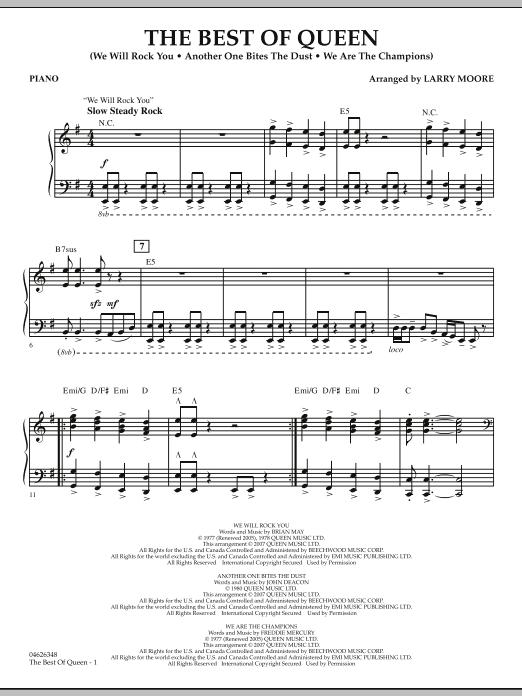 The Best Of Queen Piano By Larry Moore Queen Hal Leonard