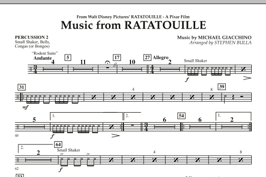 Music from Ratatouille - Percussion 2 (Orchestra)