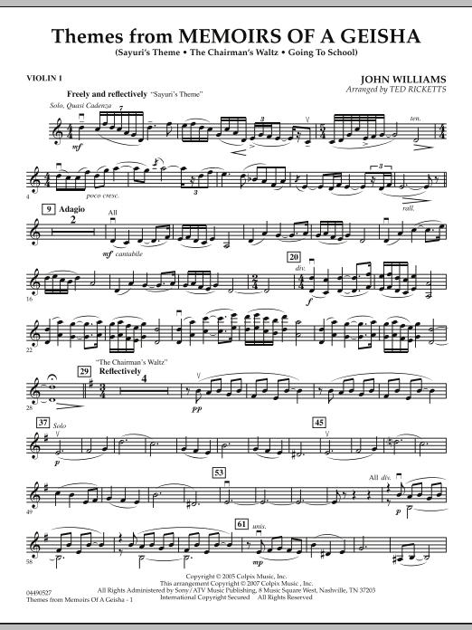 Themes from Memoirs of a Geisha - Violin 1 (Orchestra)