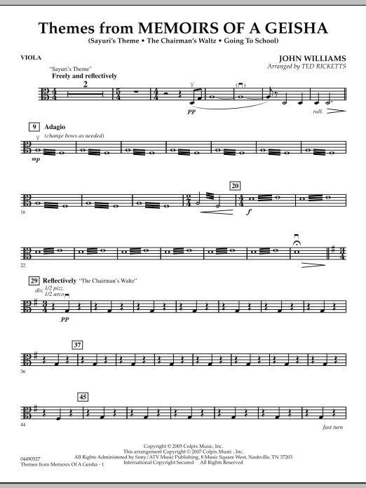 Themes from Memoirs of a Geisha - Viola (Orchestra)