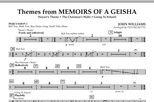 Themes from Memoirs of a Geisha - Percussion 1 (Orchestra)