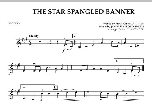 Star Spangled Banner - Violin 1 (Orchestra)