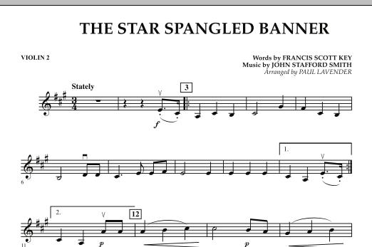 Star Spangled Banner - Violin 2 (Orchestra)