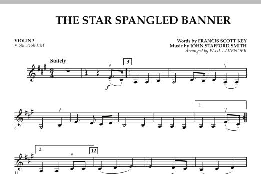 Star Spangled Banner - Violin 3 (Viola Treble Clef) (Orchestra)