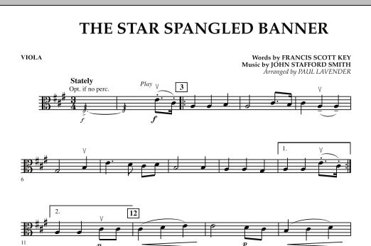 Star Spangled Banner - Viola (Orchestra)