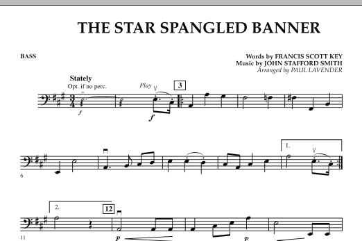 Star Spangled Banner - Bass (Orchestra)