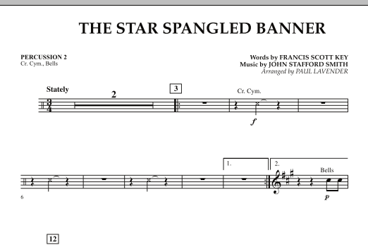 Star Spangled Banner - Percussion 2 (Orchestra)