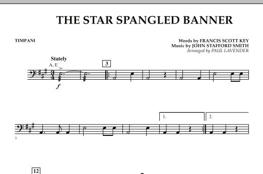 Star Spangled Banner - Timpani (Orchestra)