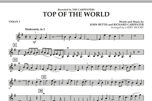 Top of the World - Violin 1 (Orchestra)
