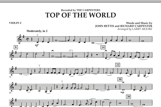 Top of the World - Violin 2 (Orchestra)