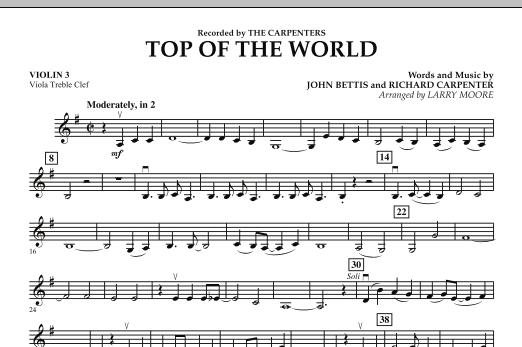 Top of the World - Violin 3 (Viola Treble Clef) (Orchestra)