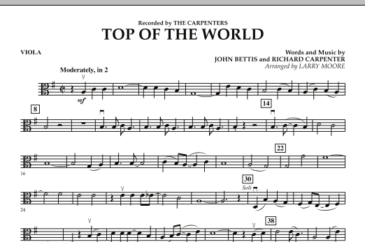 Top of the World - Viola (Orchestra)