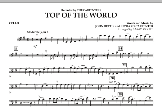 Top of the World - Cello (Orchestra)