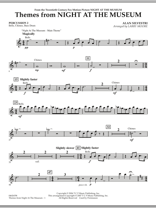 Themes from Night at the Museum - Percussion 2 (Orchestra)