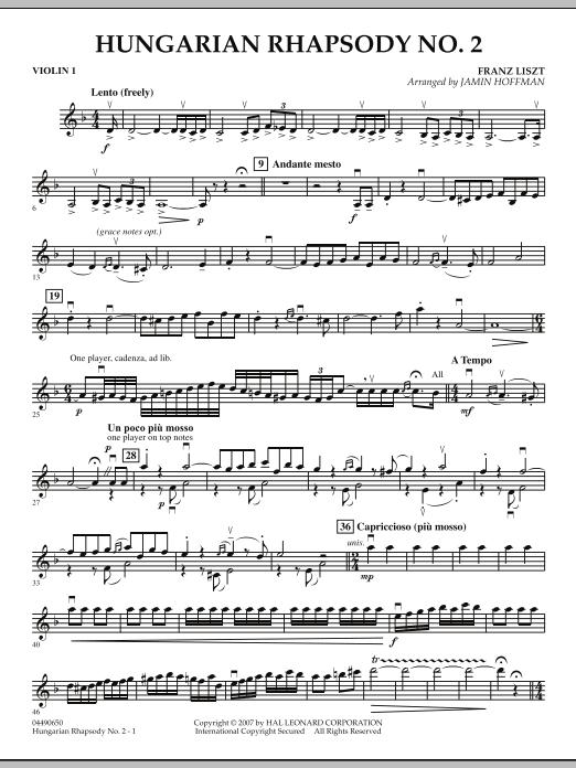 Hungarian Rhapsody No. 2 - Violin 1 (Orchestra)