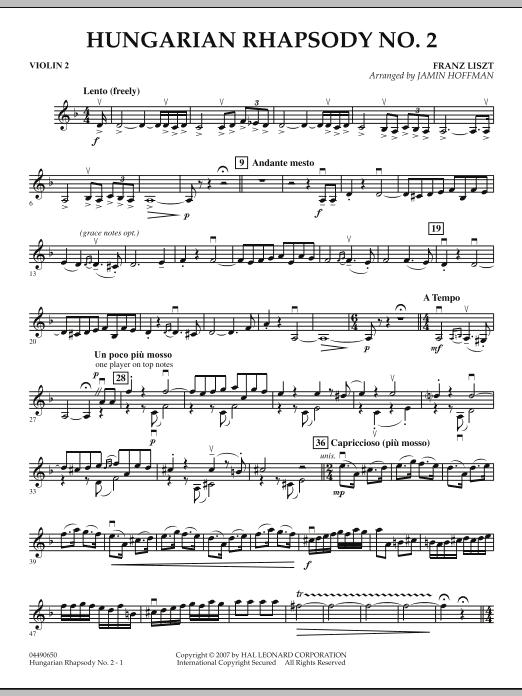 Hungarian Rhapsody No. 2 - Violin 2 (Orchestra)