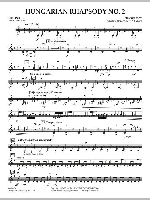 Hungarian Rhapsody No. 2 - Violin 3 (Viola Treble Clef) (Orchestra)