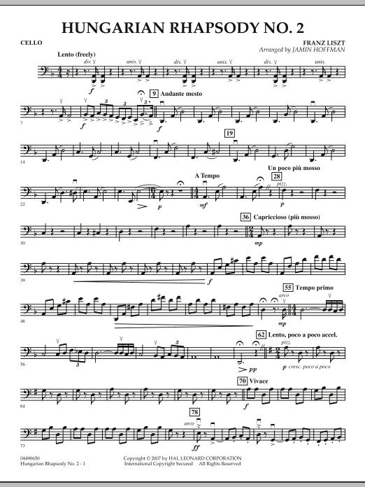 Hungarian Rhapsody No. 2 - Cello (Orchestra)