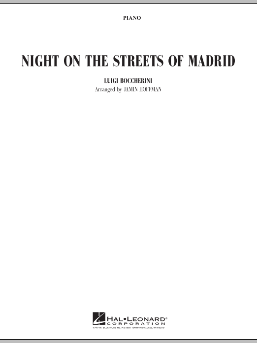 Night on the Streets of Madrid - Piano (Orchestra)