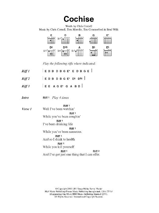Cochise Sheet Music Direct