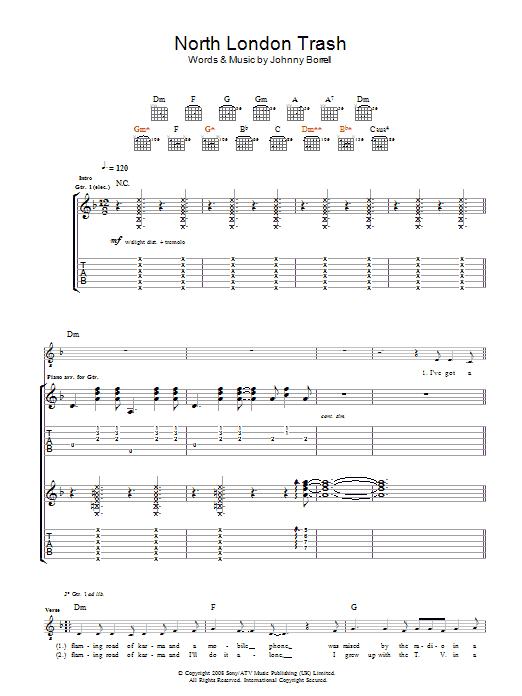 North London Trash (Guitar Tab)