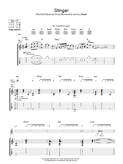 Stinger Sheet Music