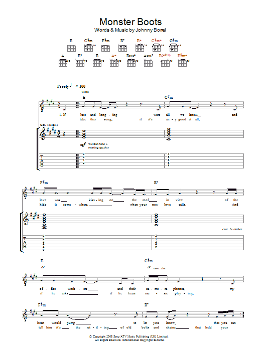 Monster Boots (Guitar Tab)