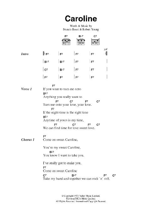 Caroline Sheet Music