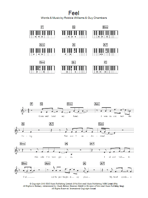 Feel (Piano Chords/Lyrics)