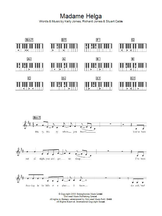 Madame Helga (Piano Chords/Lyrics)