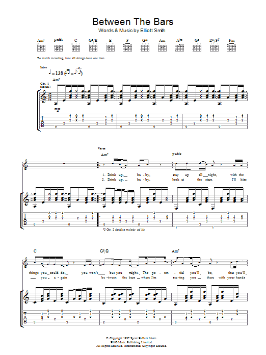 Between The Bars Chords Image Collections Finger Placement