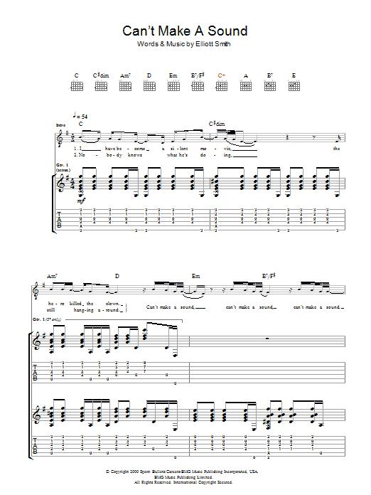 Can't Make A Sound (Guitar Tab)