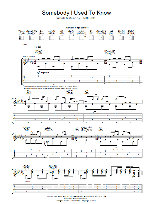Somebody That I Used To Know | Sheet Music Direct