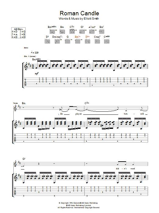 Roman Candle (Guitar Tab)