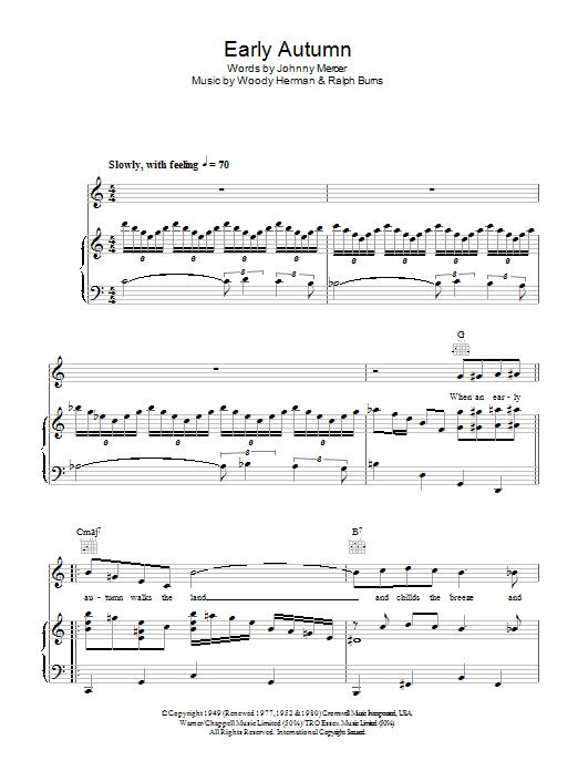 Early Autumn Sheet Music