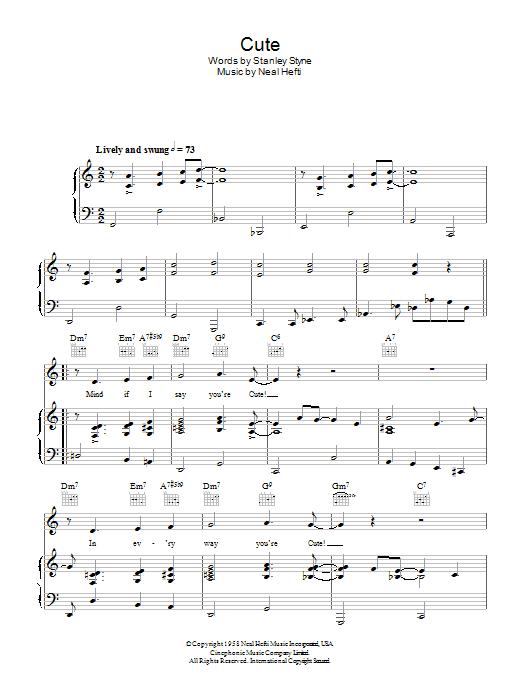 Cute (Piano, Vocal & Guitar)