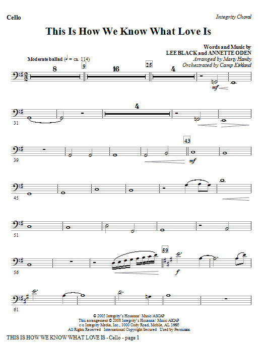 This Is How We Know What Love Is - Bassoon (Cello sub.) Sheet Music