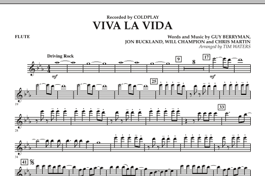 Viva La Vida - Flute (Concert Band)