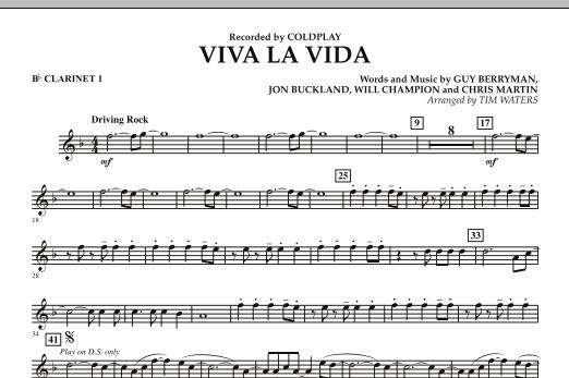 Viva La Vida - Bb Clarinet 1 (Concert Band)