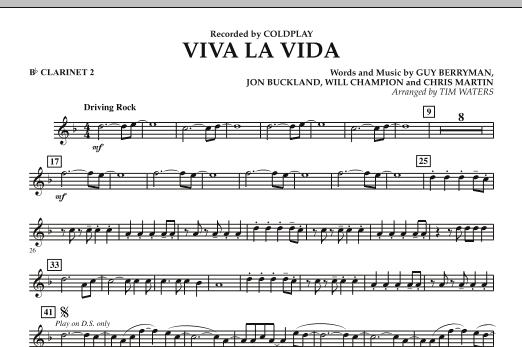Viva La Vida - Bb Clarinet 2 (Concert Band)