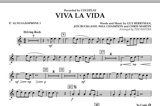 Viva La Vida - Eb Alto Saxophone 1 (Concert Band)