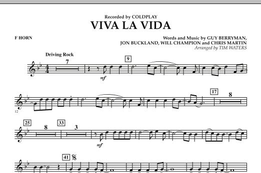Viva La Vida - F Horn (Concert Band)