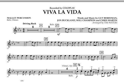 Viva La Vida - Mallet Percussion (Concert Band)