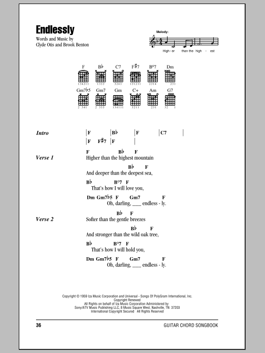 Endlessly Sheet Music
