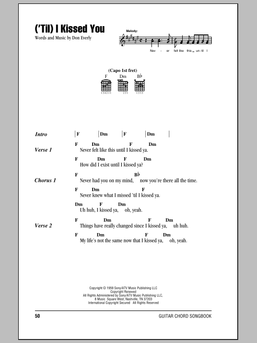 ('Til) I Kissed You Sheet Music