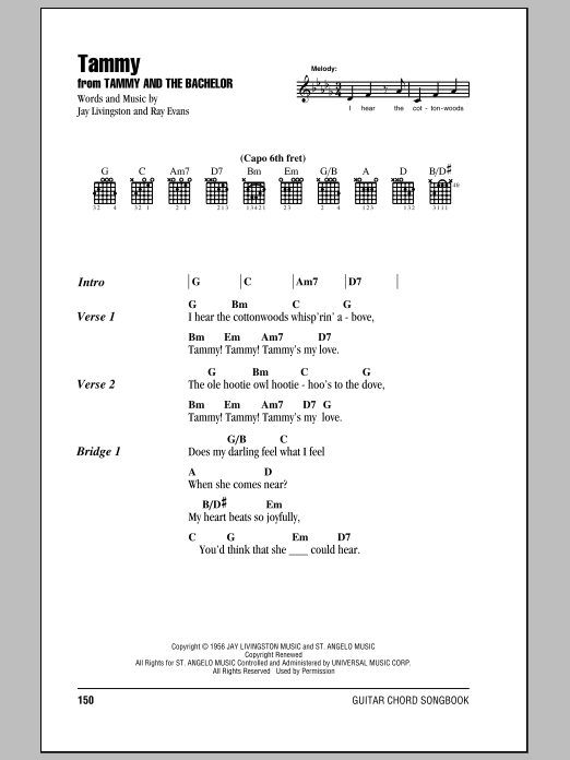 Tammy Sheet Music