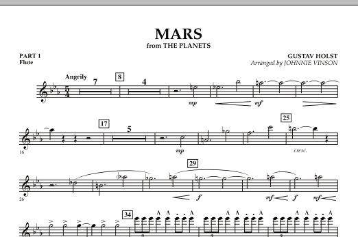 """Mars (from """"The Planets"""") - Pt.1 - Flute (Concert Band: Flex-Band)"""