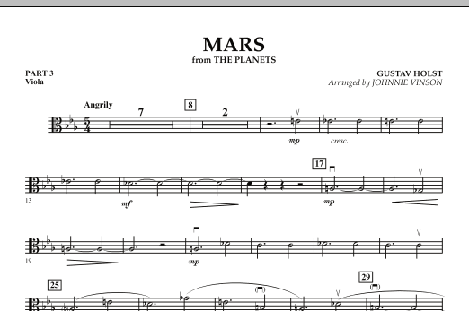 """Mars (from """"The Planets"""") - Pt.3 - Viola (Concert Band: Flex-Band)"""