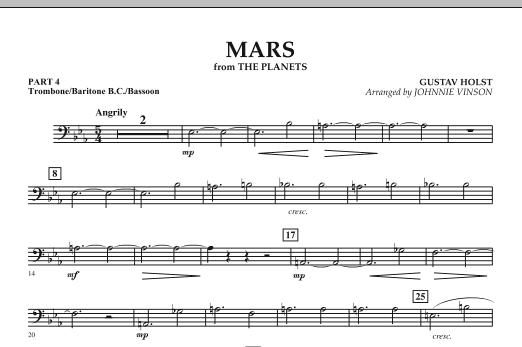 "Mars (from ""The Planets"") - Pt.4 - Trombone/Bar. B.C./Bsn. (Concert Band: Flex-Band)"