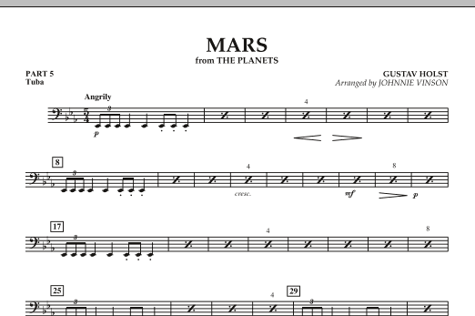 "Mars (from ""The Planets"") - Pt.5 - Tuba (Concert Band: Flex-Band)"